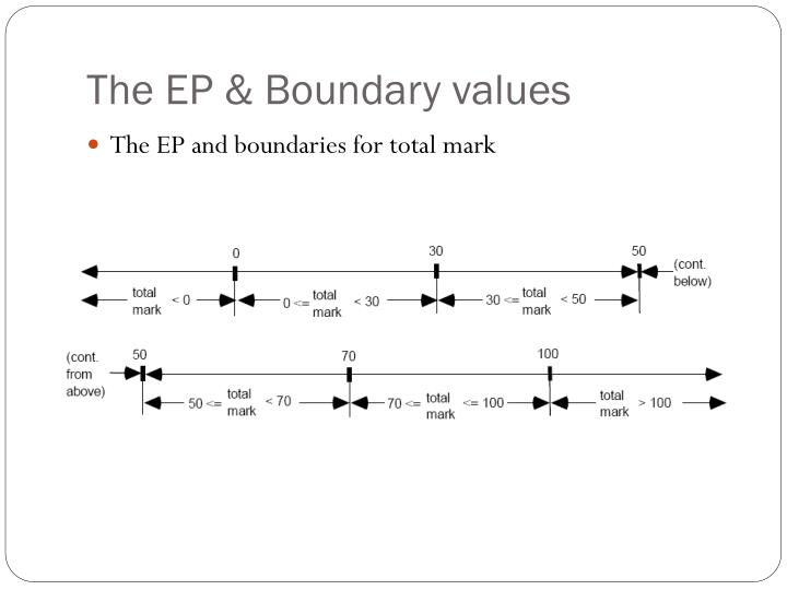 The EP & Boundary values