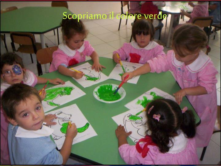 Scopriamo il colore verde