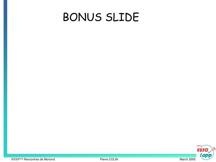 BONUS SLIDE