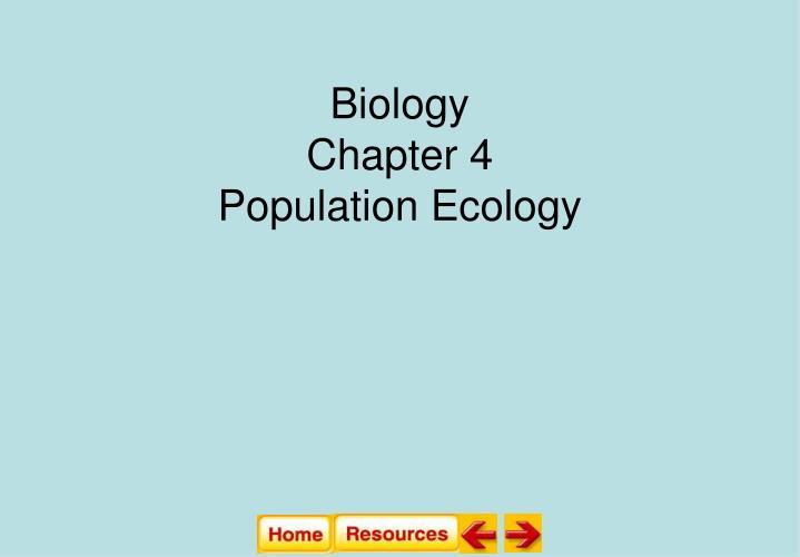 biology chapter 4 population ecology n.