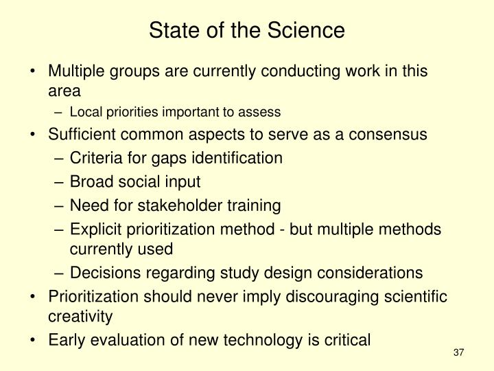 State of the Science