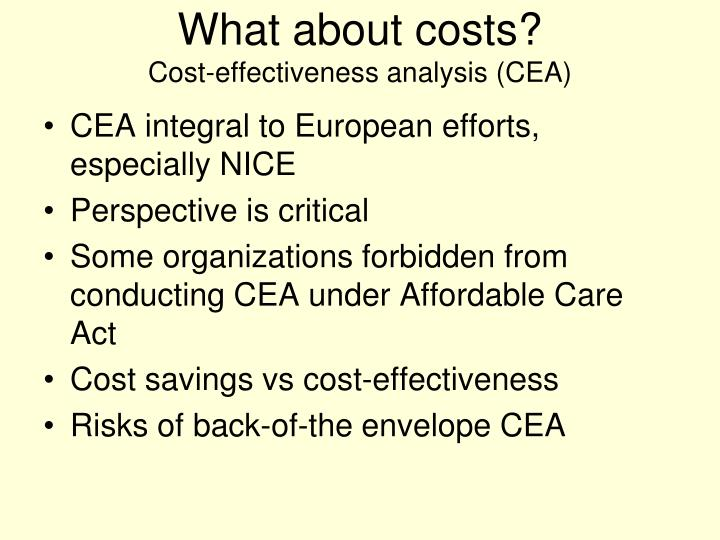What about costs?