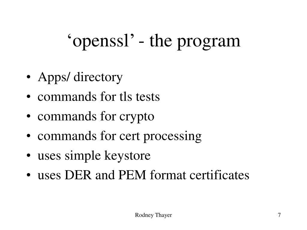 PPT - PKI Processing with OpenSSL PowerPoint Presentation - ID:3271885