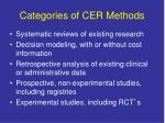 categories of cer methods