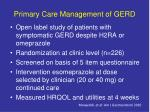 primary care management of gerd
