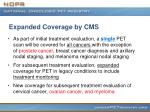 expanded coverage by cms