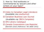 2 how to find textbooks or commentaries by lawyers and other writers on your topic