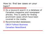 how to find law cases on your topic