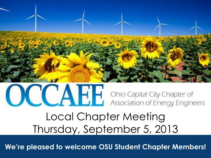 local chapter meeting thursday september 5 2013 n.