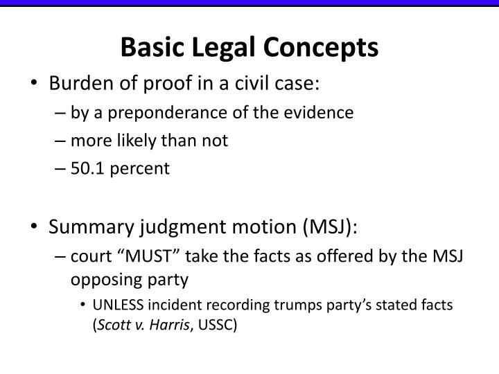 Basic Legal Concepts