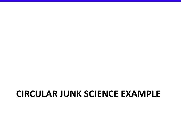 Circular Junk Science example