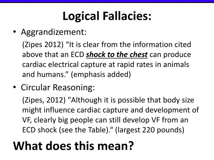 Logical Fallacies: