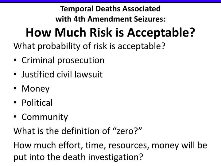 Temporal Deaths Associated