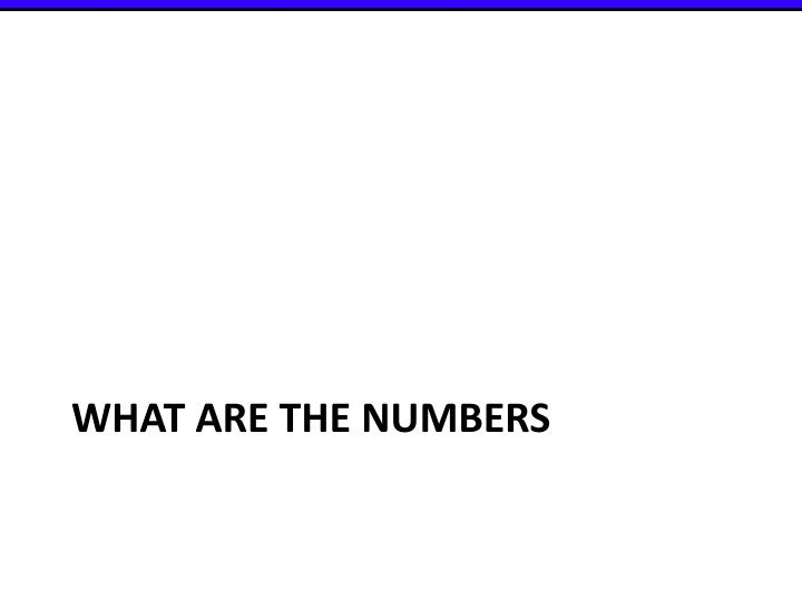 What are the numbers