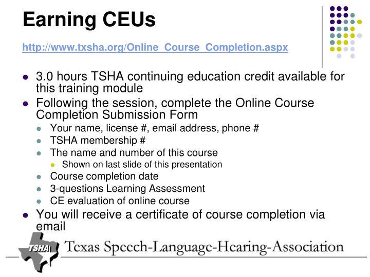 Earning CEUs