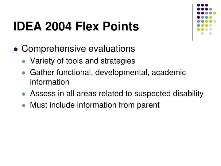IDEA 2004 Flex Points