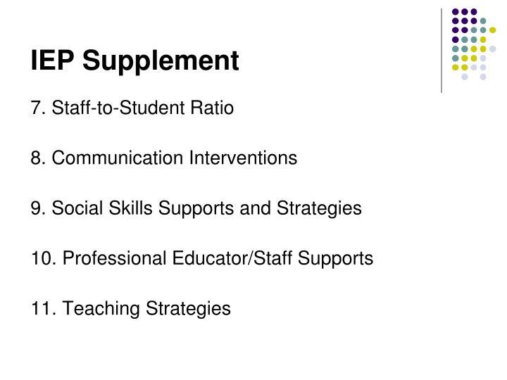 IEP Supplement