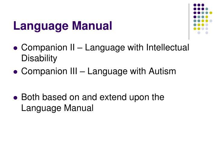 Language Manual