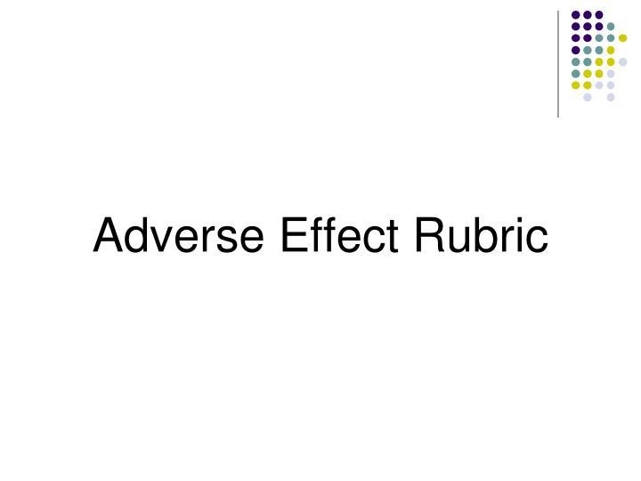 Adverse Effect Rubric