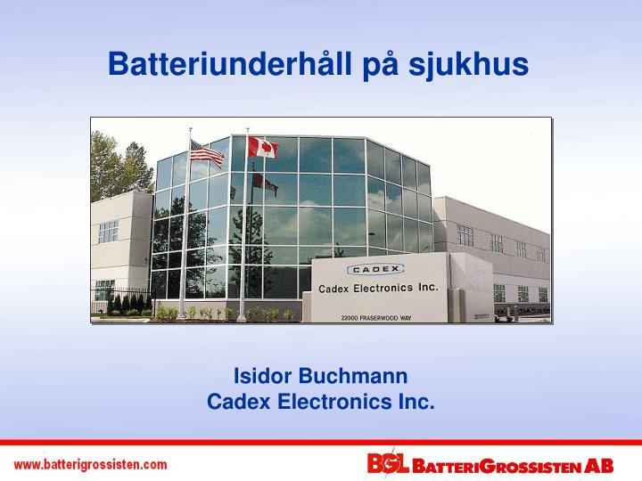 Batteriunderhåll på sjukhus