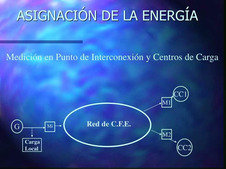 ASIGNACIÓN DE LA ENERGÍA