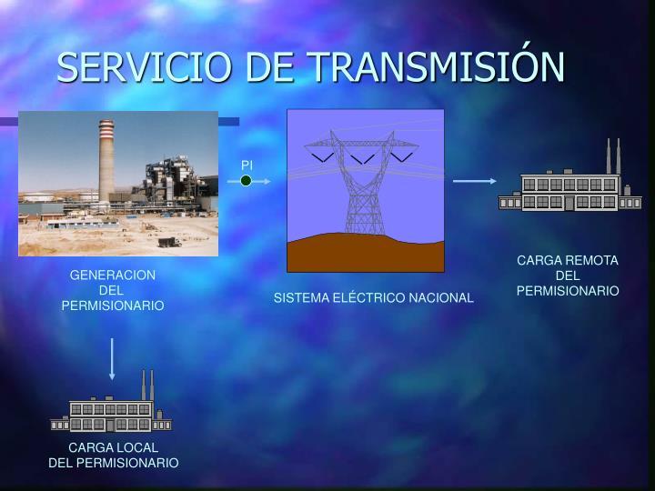 SERVICIO DE TRANSMISIÓN