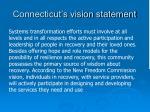 connecticut s vision statement