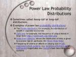 power law probability distributions