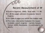 recent measurement of w