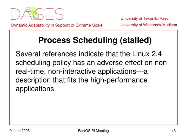 Process Scheduling (stalled)