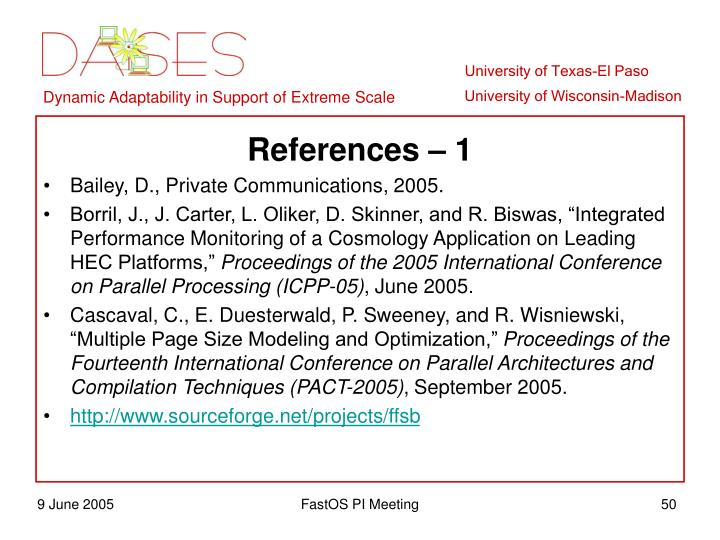 References – 1