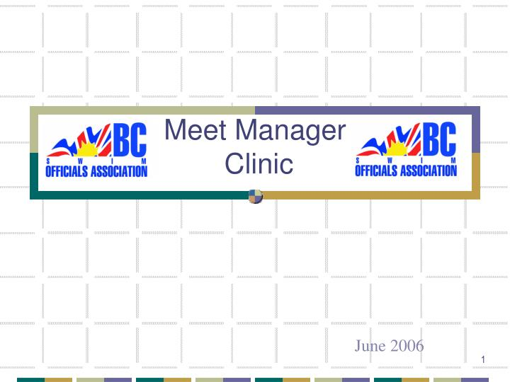 meet manager clinic n.