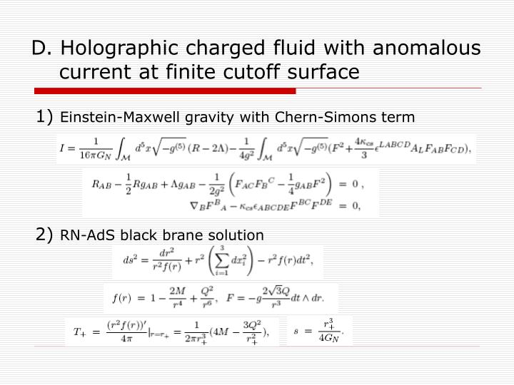 D. Holographic charged fluid with anomalous