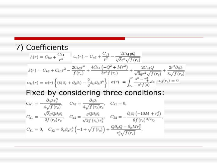 7) Coefficients