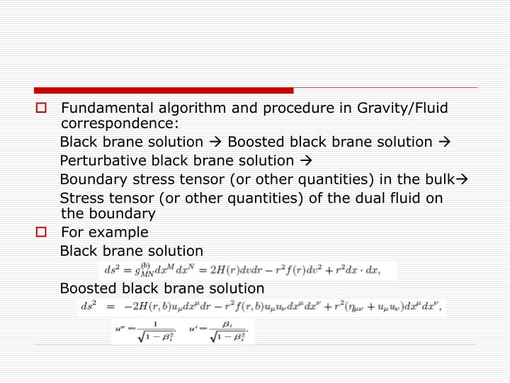 Fundamental algorithm and procedure in Gravity/Fluid correspondence: