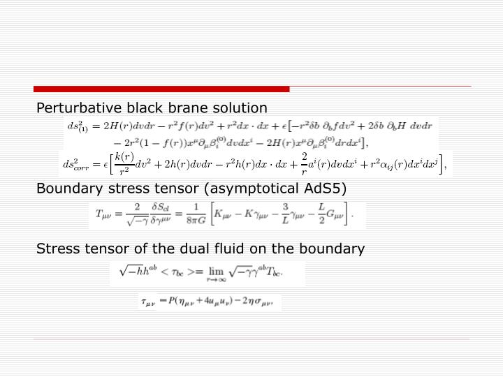 Perturbative black brane solution