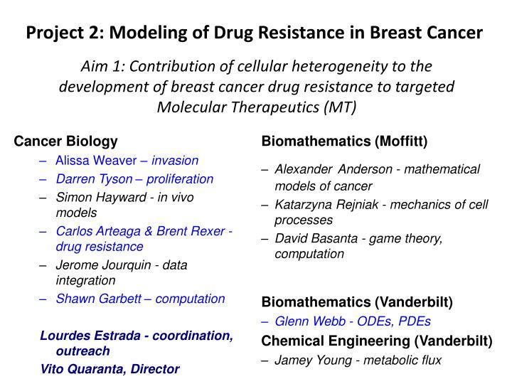 Project 2 modeling of drug resistance in breast cancer