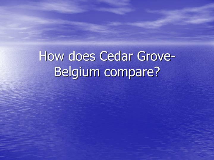 how does cedar grove belgium compare n.