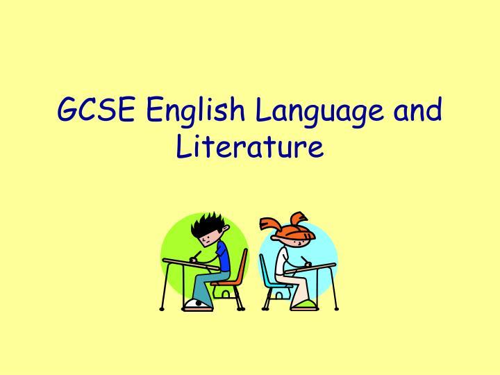 gcse english language and literature n.