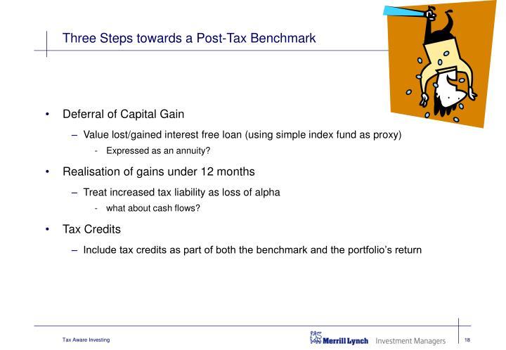 Three Steps towards a Post-Tax Benchmark