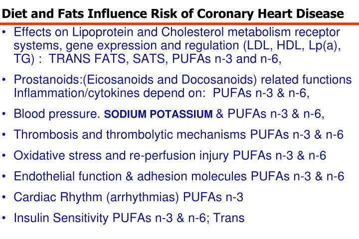 Diet and Fats Influence Risk of Coronary Heart Disease
