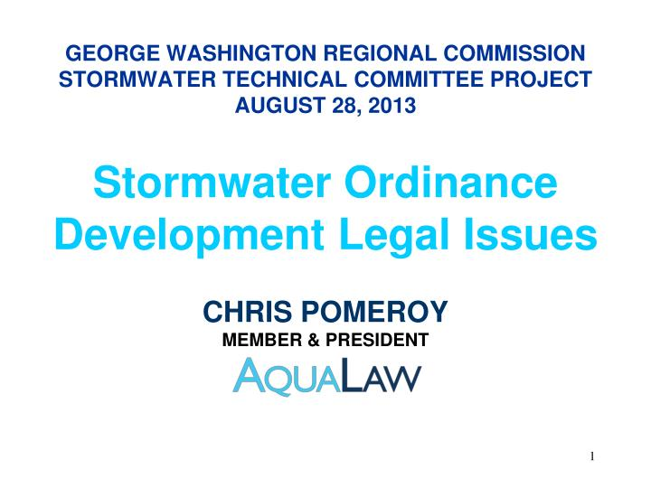 george washington regional commission stormwater technical committee project august 28 2013 n.