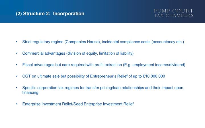 (2) Structure 2:  Incorporation