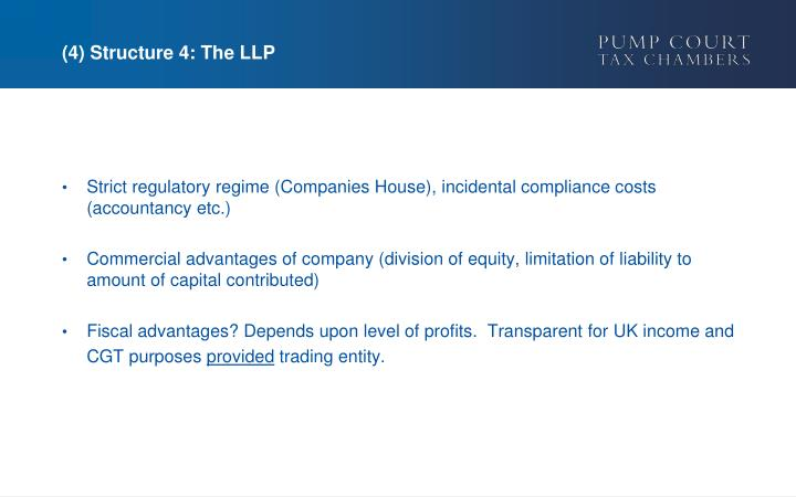 (4) Structure 4: The LLP