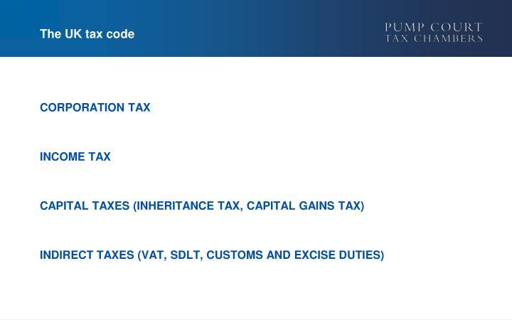 The uk tax code