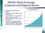 micex stock exchange corporate and regional bonds