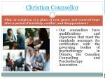 christian counsellor