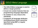 gold meta language