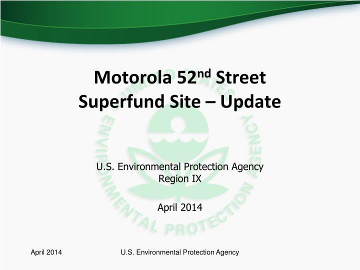 motorola 52 nd street superfund site update n.