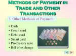methods of payment in trade and other transactions2
